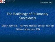 The Radiology of Pulmonary Sarcoidosis