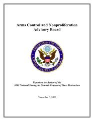 Arms Control and Nonproliferation Advisory Board - US Department ...