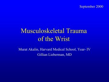 Injuries of the Wrist - Lieberman's eRadiology Learning Sites