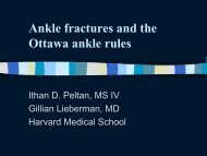 The Ottawa Ankle Rules - Lieberman's eRadiology Learning Sites