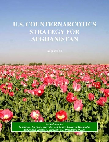 us counternarcotics strategy for afghanistan - MERLN
