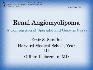 Renal Angiomyolipoma - Lieberman's eRadiology Learning Sites