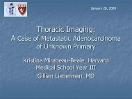 Thoracic Imaging - Lieberman's eRadiology Learning Sites