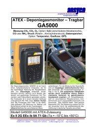 ATEX - Deponiegasmonitor – Tragbar GA5000 Messung CH4, CO2 ...