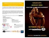 Advocacy Week: October 4-10, 2010 - Asoundstrategy