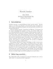 Wavelet Analyse - Aalborg Universitet