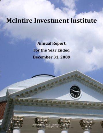 McIntire Investment Institute - University of Virginia