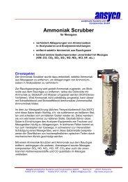 Ammoniak Scrubber - ANSYCO Analytische Systeme und ...