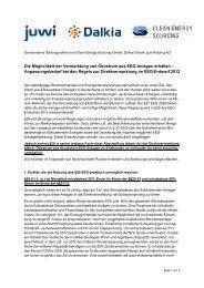 Gemeinsame Stellungnahme von Clean Energy Sourcing ... - Dalkia