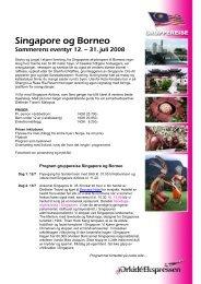Borneo og Singapore
