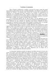 Socialisme et communisme Marx et Engels se ... - Hussonet - Free