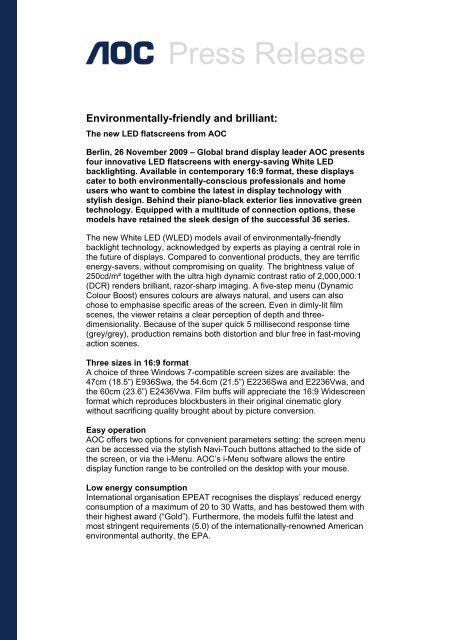 36ID WLED English Press Release - AOC