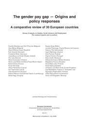 The gender pay gap - Origins and policy responses A comparative ...