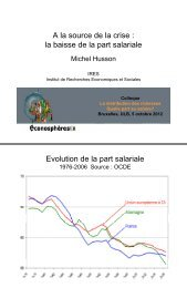 A la source de la crise : la baisse de la part salariale ... - Hussonet