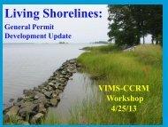 Living Shorelines General Permit Update