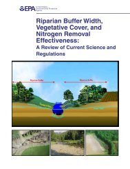 Riparian buffer width, vegetative cover, and nitrogen removal ...
