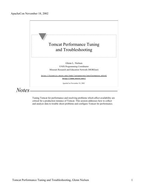 Tomcat Performance Tuning and Troubleshooting