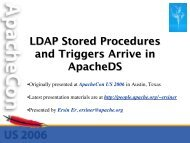 LDAP Stored Procedures and Triggers in ApacheDS