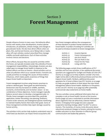 Forest Management - School of Forest Resources & Conservation ...