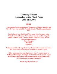 Index of obituary and death notices appearing in - Genealogy the