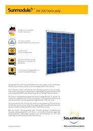 SW 200 Vario poly - SolarWorld AG