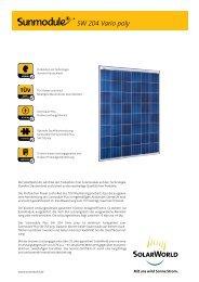 SW 204 Vario poly - SolarWorld AG