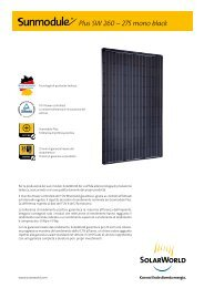 Plus SW 260 – 275 mono black - SolarWorld AG