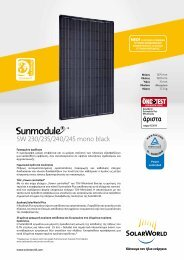 SW 230/235/240/245 mono black - SolarWorld AG