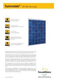 SW 188 Vario poly - SolarWorld AG