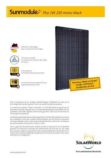sw 180 poly solarworld. Black Bedroom Furniture Sets. Home Design Ideas