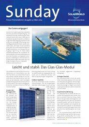 Leicht und stabil: Das Glas-Glas-Modul - SolarWorld AG