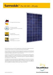 Plus SW 240 – 255 poly - SolarWorld AG