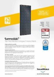 SW 150/155/160 Compact mono black - SolarWorld AG