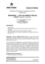 Manhattan … cita con Federico García Lorca - CSIC
