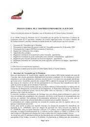 Procès-verbal de l'Assemblée primaire du 14 - Commune d'Anniviers
