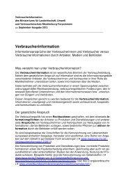 Verbraucherinformation - Verbraucherzentrale Mecklenburg ...