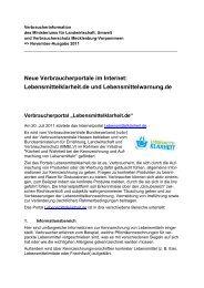 Neue Verbraucherportale im Internet: Lebensmittelklarheit.de und ...