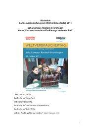 Rückblick Landesveranstaltung zum Weltverbrauchertag 2011 ...