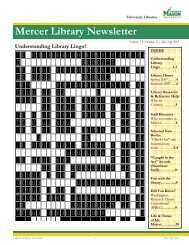 Mercer Library Newsletter - University Libraries - George Mason ...