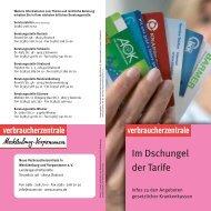 Im Dschungel der Tarife - Verbraucherzentrale Mecklenburg ...