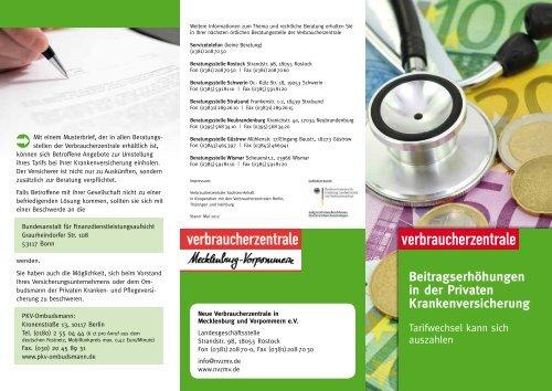 Verbraucherzentrale Mecklenburg Vorpommern