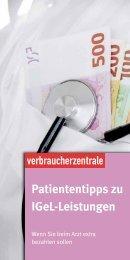 Patiententipps zu IGeL-Leistungen - Verbraucherzentrale ...