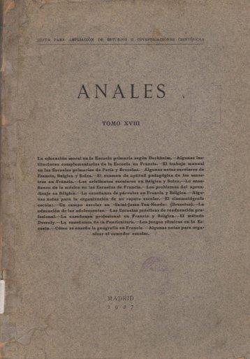 ANA L E s . - Consejo Superior de Investigaciones Científicas