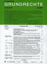 Page 1 Europäische GRUNDHECHTE Zeitschrift EUGHZ Im] N. P. E ...