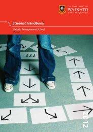 Student Handbook - Waikato Management School - The University ...