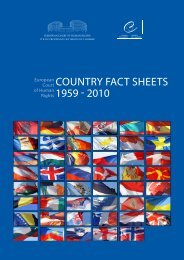 Country Factsheets 1959-2010 - European Court of Human Rights ...