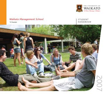 2007 version - Waikato Management School - The University of ...
