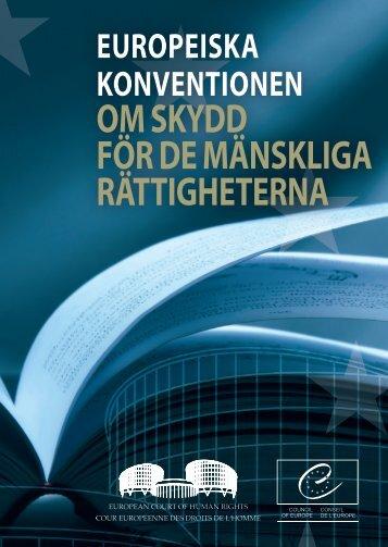 europeiska konventionen om skydd för de mänskliga rättigheterna