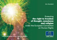 Protecting the right to freedom of thought, conscience and religion ...
