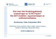 Evaluering av ACT-team - Helsedirektoratet